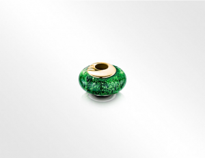 Charm Bead Green-Gold
