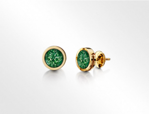 Earrings Gold-Green