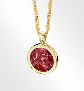 Ruby Gold Round Pendant